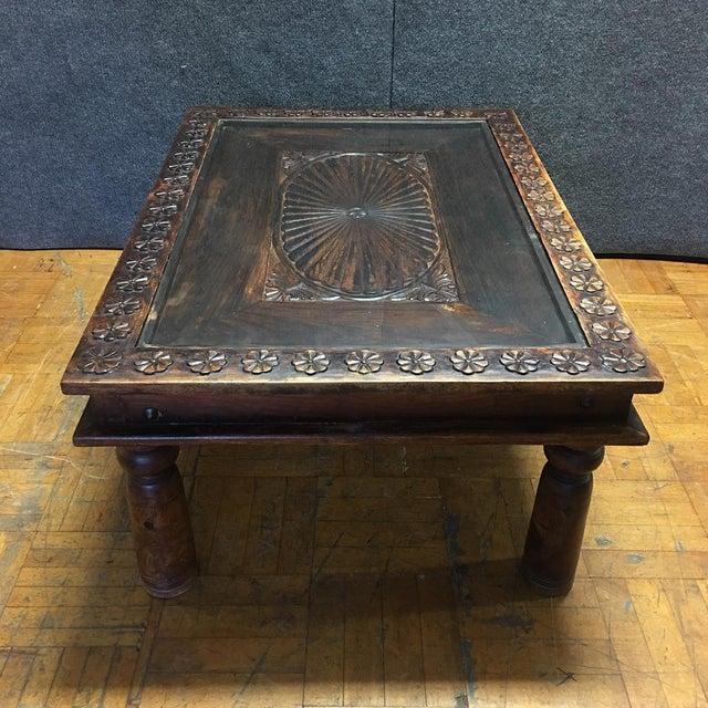 Dark Teak Coffee Table: Indian Teak Wood Coffee Table