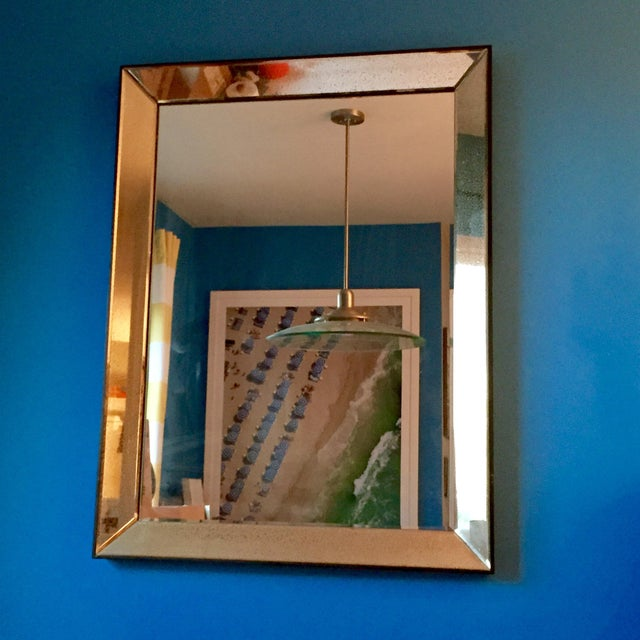 Image of Beveled Glass Art Deco Wall Mirror