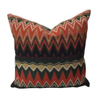 Velvet Back Missoni Style Pillow