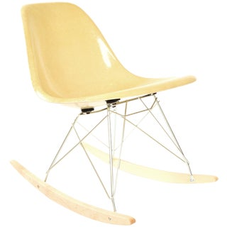 Herman Miller Ochre Fiberglass Rocking Chair