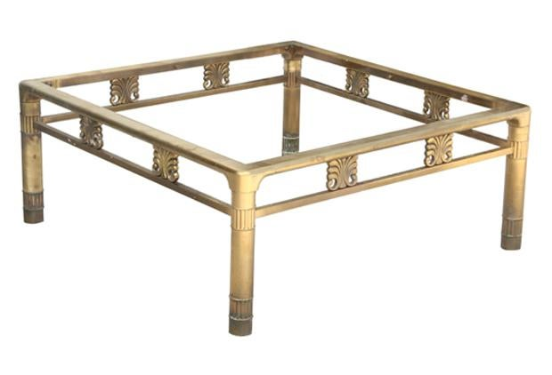 Lovely Square Brass Coffee Table Base   Image 3 Of 5