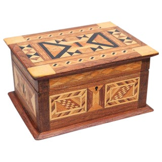 Folk Art Parquetry Box