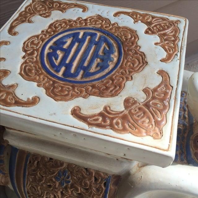 Chinoiserie Ceramic Elephant Garden Stool - Image 3 of 7