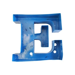 Mid-Century 1950s Metal Marquee Letter 'E'