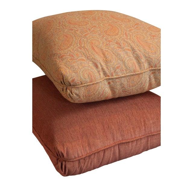 Image of Designer Fabric Orange & Coral Pillows - Set of 5