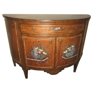 Traditional Demilune Cabinet