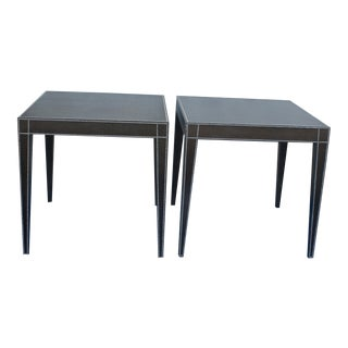 Barclay Butera Embossed Croc Side Tables - A Pair