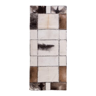 "Luxury Handmade Cowhide Patchwork Area Rug - 5'2""x2'3"""
