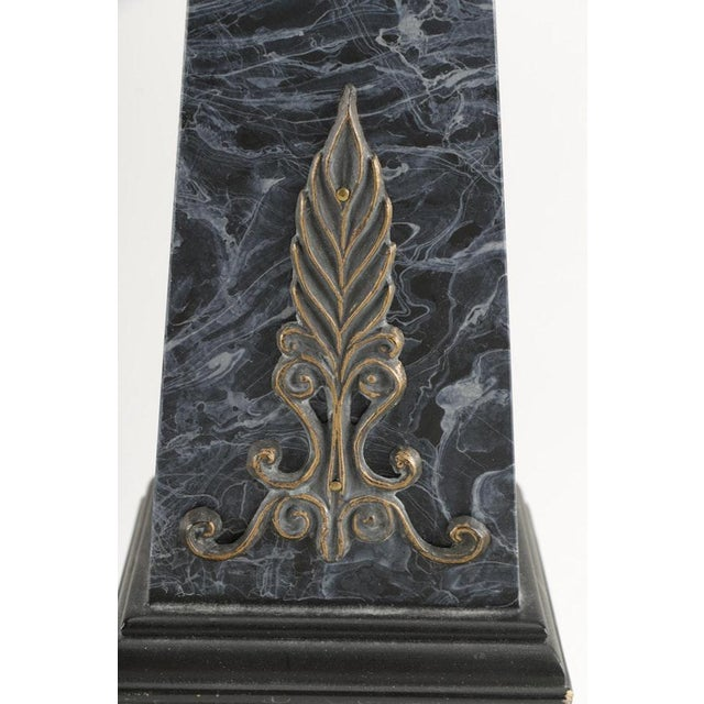 Neoclassical Faux Marble Obelisks- A Pair - Image 4 of 10