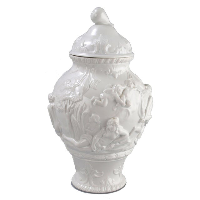 White Capodimonte Italian Porcelain Urn - Image 10 of 10