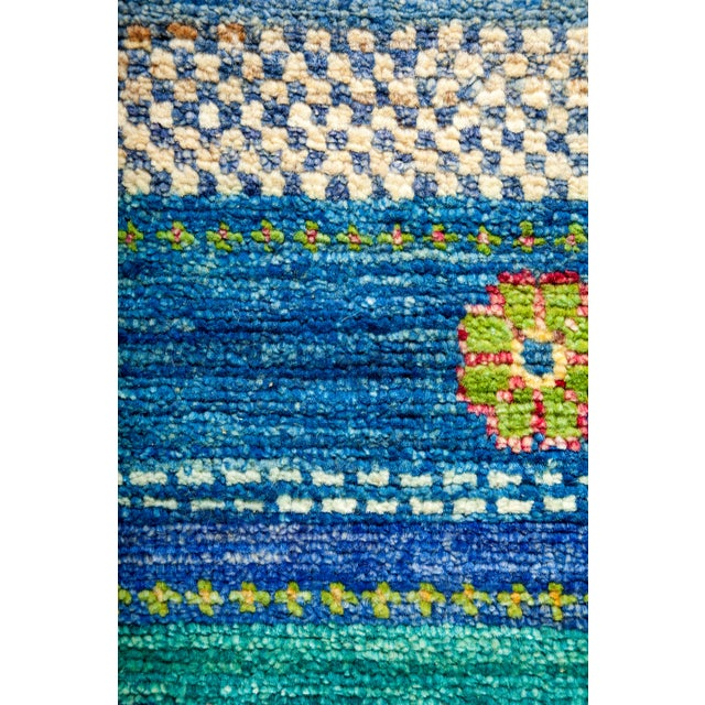 "New Hand-Knotted Striped Tribal Rug - 8'1"" X 8'2"" - Image 3 of 3"