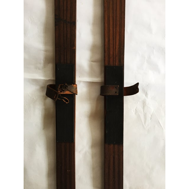 Image of Vintage Wooden Skis by Spalding