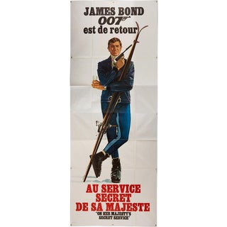 Massive 1969 French James Bond 007 Film Poster