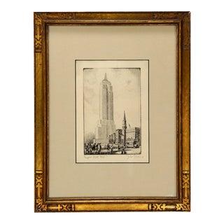 Empire State Building, 1931 Original Etching by John Shelton Eland