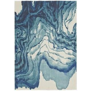 Contemporary Watercolor-Inspired Area Rug - 10' X 13'