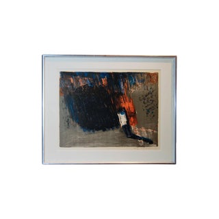 Vintage Swedish Abstract Lithograph