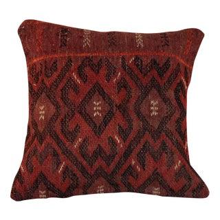 Vintage 15'' Square Bohemian Handmade Kilim Pillow