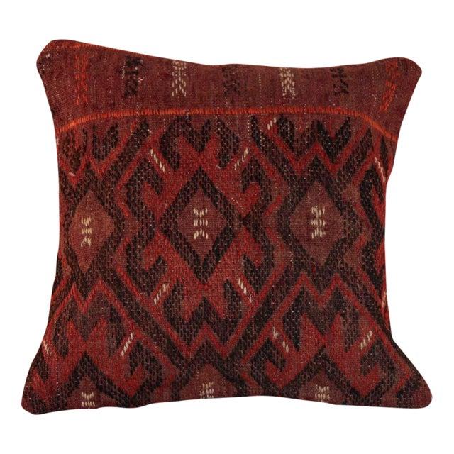 Image of Vintage 15'' Square Bohemian Handmade Kilim Pillow