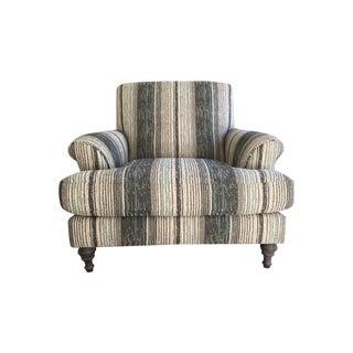 Crate & Barrel Custom Striped Chair