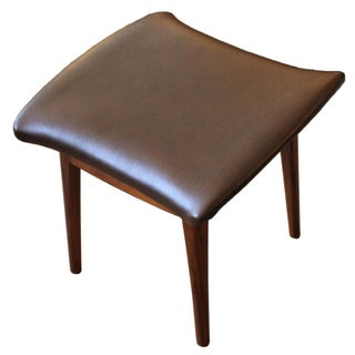 Drexel Declaration Reupholstered Walnut Ottoman