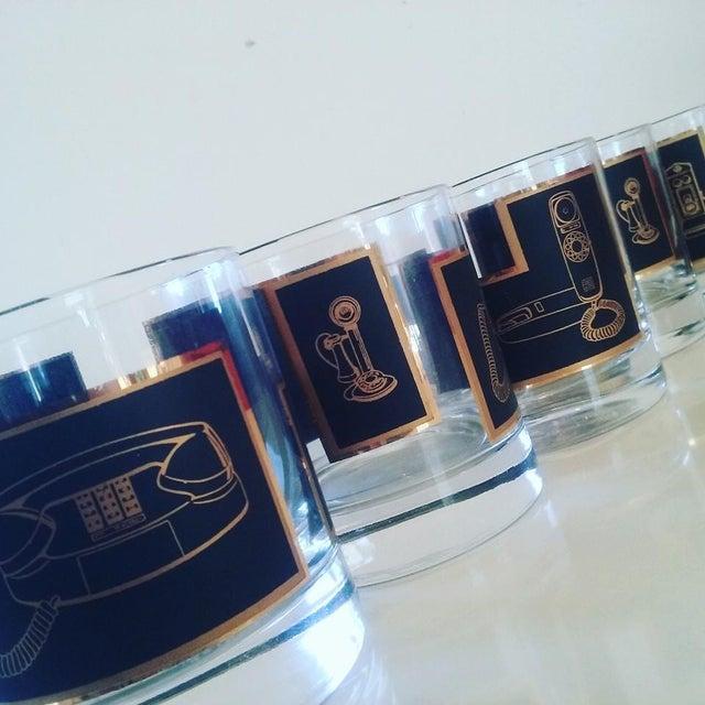 Black & Gold Phone Rocks Glasses - Set of 5 - Image 3 of 6