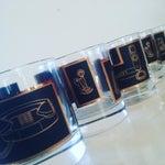 Image of Black & Gold Phone Rocks Glasses - Set of 5