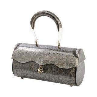 1940s Llewellyn Grey Pearl Lucite Handbag