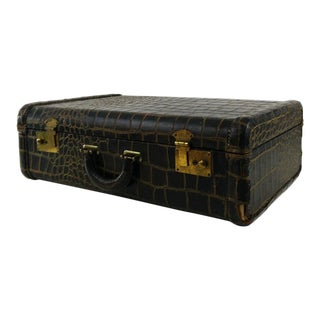 Vintage Faux Crocodile Suitcase