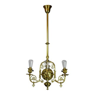 Exceptionally Beautiful Victorian Filigree Converted Gas Fixture (4-Light)