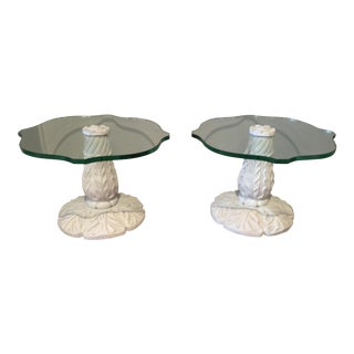 French White Tables - Pair