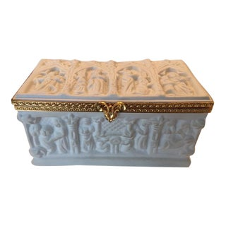 Limoge Parian Ware Trinket Box