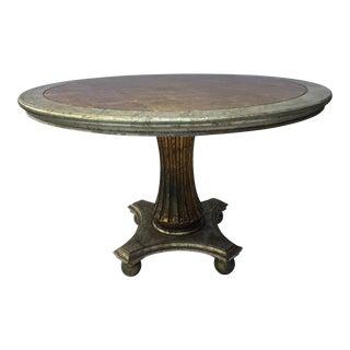 Italian Silver & Gold Leaf Table