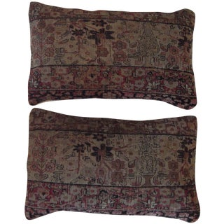 Antique Rug Fragment Pillow - A Pair