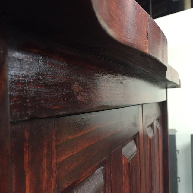 Mahogany Solid Wood 4 Door Armoire - Image 5 of 7