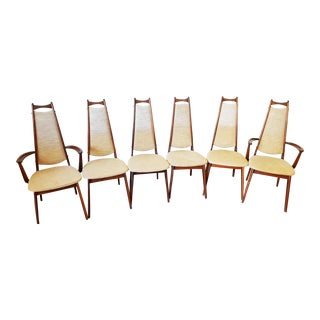 Adrian Pearsall High Back Mid-Century Dining Chairs - Set of Six