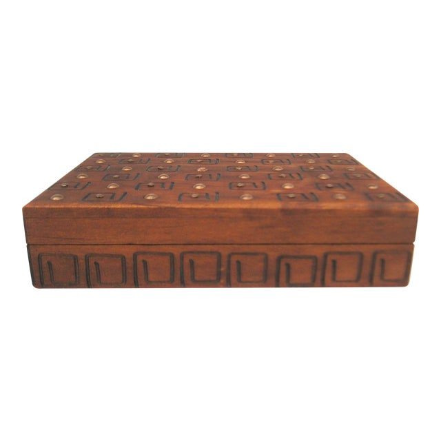 Hand Carved Trinket Box - Image 1 of 6