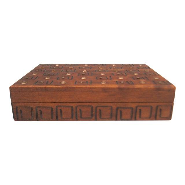 Image of Hand Carved Trinket Box