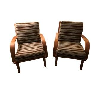 Conant Ball American Modern Armchairs - A Pair