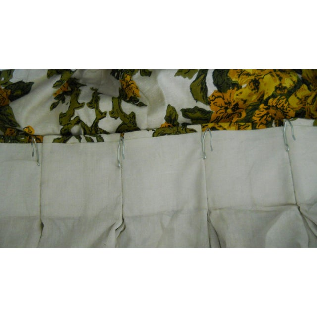 Mid Century Modern Pinch Pleat Drapes 2 Panels Chairish
