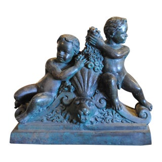 Patinated Bronze Cherubs Figural Sculpture