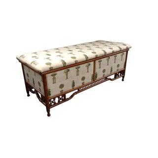 Antique Victorian Rattan Blanket Chest