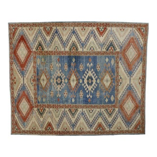"Vintage Turkish Tribal Oushak Rug - 10'5"" x 12'6"""