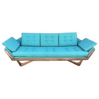 """Mid Century Custom """"James"""" Blue Sofa"""