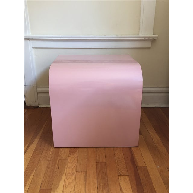 Image of Vintage Pink Waterfall Side Table