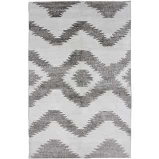 Aara Rugs Inc Hand Knotted Bamboo Rug - 10 x 14