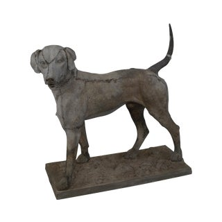 "19th Century Antique J.W. Fiske Zinc ""Morley's Dog"" Statue"