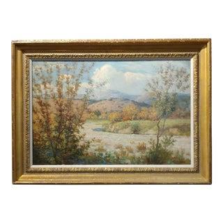 William Lees Judson -Beautiful California Plein Air Landscape-Oil painting on canvas-c1900