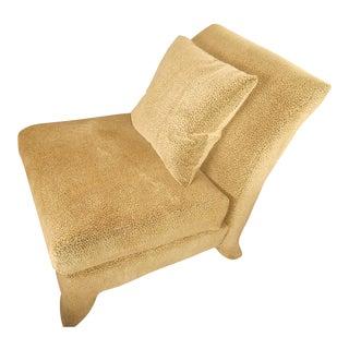 Designer Leopard Print Armless Accent Chair