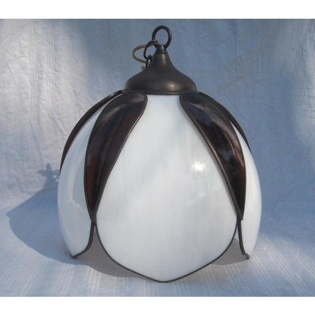 Mid-Century Modern Lotus Glass Pendant Light - Image 2 of 8