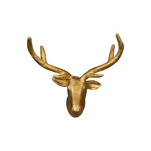Golden Stag Head - Image 1 of 3
